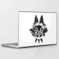 mononoke Laptop & iPad Skins featuring MONONOKE by kravic