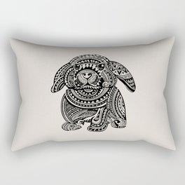 Polynesian Bunny Rectangular Pillow