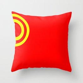 Nicubunu Commie Flag Throw Pillow