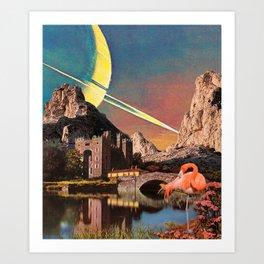 Lonely Flamingo Art Print