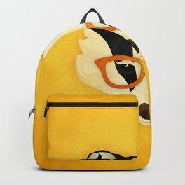 Hipster Badger: Gold Backpack