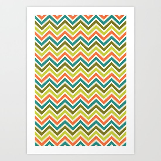 Citronique Series: Chevron Grand Sorbet Art Print
