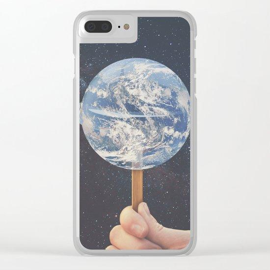 Lollipop Globe Clear iPhone Case