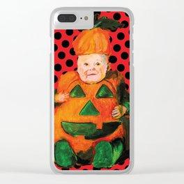 Baby-pumpkin Clear iPhone Case