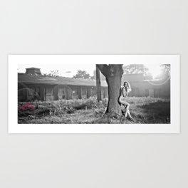 In ruins Art Print