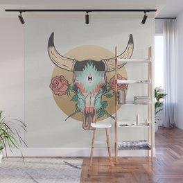 cráneo de vaca Wall Mural