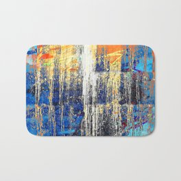 Golden Dawn, Abstract Landscape Art Bath Mat