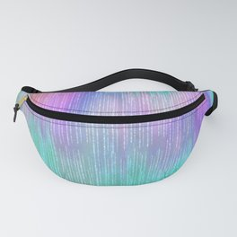 Modern abstract turquoise teal pink lilac watercolor brushstrokes Fanny Pack