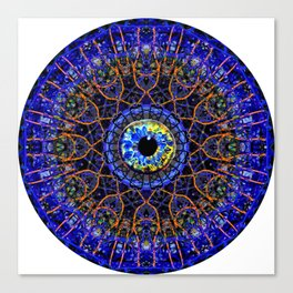 Orange Eye Of Power Canvas Print