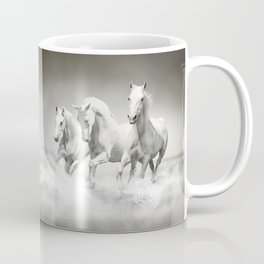 Wild White Horses Coffee Mug