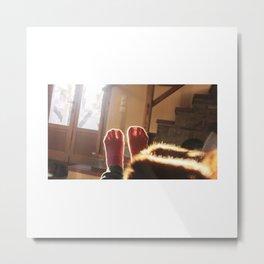 happy feet in the sun light Metal Print