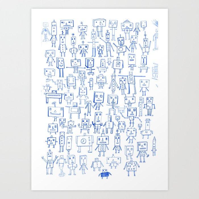 Robot Crowd Kunstdrucke