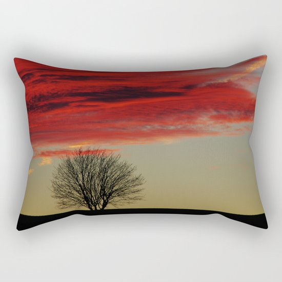 Sky Fire Rectangular Pillow