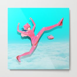 Pink Catwoman Metal Print