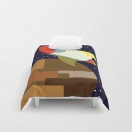 Rocket -or- buildarocketshipandwellflyitfaraway Comforters