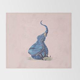 Elephant 3 Throw Blanket