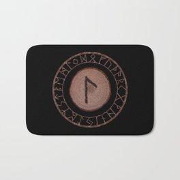 Laguz Elder Futhark Rune of the unconscious context of becoming or the evolutionary process Bath Mat
