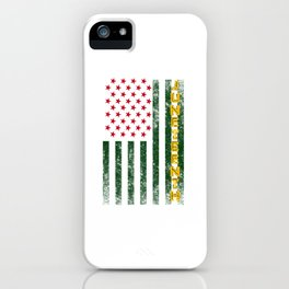 Juneteenth Freedom Day American Flag with African Colors iPhone Case
