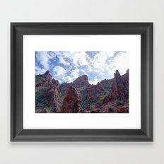 Flat Iron Peak Framed Art Print