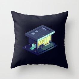 Pixelart Convenience Store Throw Pillow