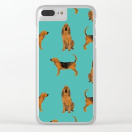 Bloodhound dog breed pet pattern hounds dog portrait bloodhounds gifts Clear iPhone Case