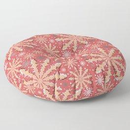 Christmas optical illusion texture pattern Floor Pillow