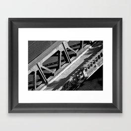 A bridge in San Antonio Framed Art Print