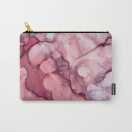Liquid Mauve Abstract Carry-All Pouch