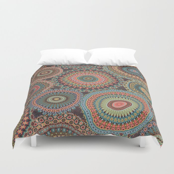 Boho Patchwork-Vintage colors Duvet Cover