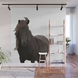 Low Poly Pony Wall Mural
