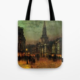 Classical Masterpiece 'Blackman Street, London' by John Atkinson Grimshaw Tote Bag
