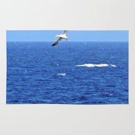Northern Gannets in Flight Rug