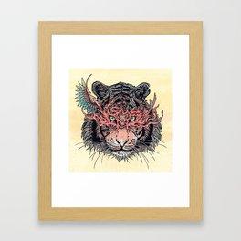 Masked Tiger Framed Art Print