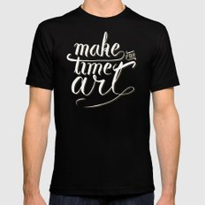 Make time for art Black MEDIUM Mens Fitted Tee