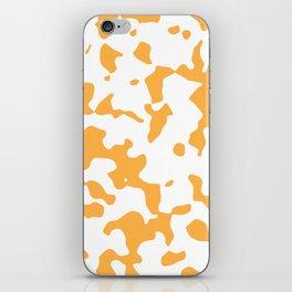 Large Spots - White and Pastel Orange iPhone Skin