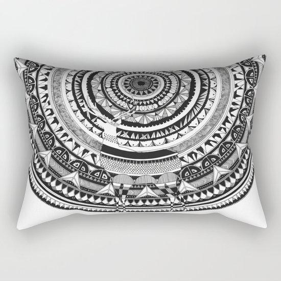 Deer Mandala Rectangular Pillow