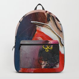 Geisha with fan -L'une 77- Backpack