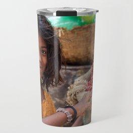 Girl with Chilies Travel Mug