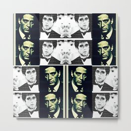 Corleone V Montana V Pacino V Godfather V Scarface Metal Print