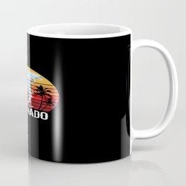 Retro Vintage Tornado Palm Storm Motif Coffee Mug