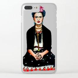 Frida Kahlo Mexican Artist Feminist Art Clear iPhone Case