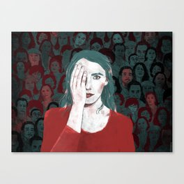 Bells Palsy (2 of 2) Canvas Print