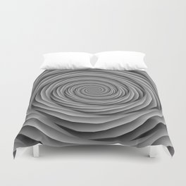 Coiled Cables in Black and White Duvet Cover
