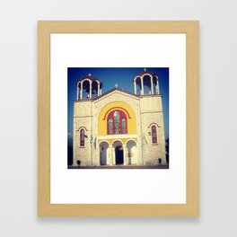 Greek Church Framed Art Print