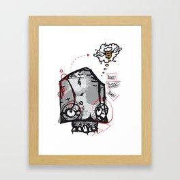 Skull beer Framed Art Print