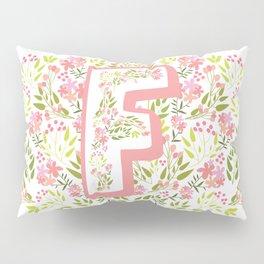 """Princess Monogram """"F"""" Pillow Sham"""
