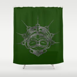 Smoke Frog Grass Shower Curtain