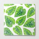 Tropical leaves by Katerina Kirilova.Tropical leaves pattern design painted with watercolors.
