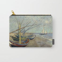 Fishing boats on the beach by Vincent Van Gogh Carry-All Pouch