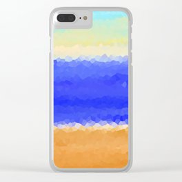 Crystallized Beach Day. Clear iPhone Case